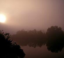 Misty Morning Sunrise on the Bayou by Brian Wright
