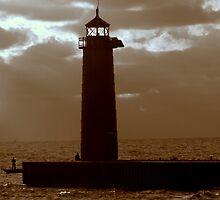 Pierhead Lighthouse Kenosha Wisconsin by kkphoto1