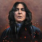 Severus Snape faces the Dark Lord by Cynthia Blair