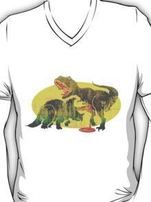 Triceratops vs T Rex Dino Fight T-Shirt