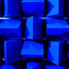 Blue Pyramids by Tiffany Muff