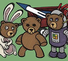 Teddy Bear And Bunny - Spies Among Us by Brett Gilbert