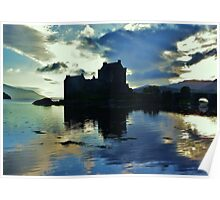 Eilean Donan Castle - Saltire  Poster