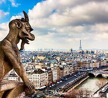 Gargoyle Over the Paris Skyline by Mark Tisdale