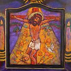 Jesus on Cross with Dove by Barbara Holland