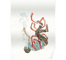 Burdened - sinking swimming ribbon  Poster