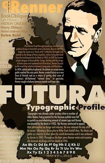 Paul Renner Futura Typography by Tiffany Muff