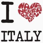 I Love Italy  by FC Designs