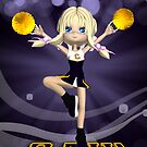 Happy Birthday Cheerleader Greeting Card by Moonlake