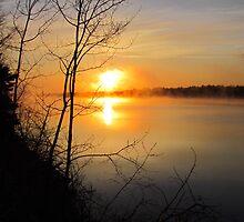 Sunrise on the Miramichi River by Laura Lea Comeau