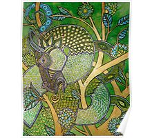 Green Tree Dragon Poster
