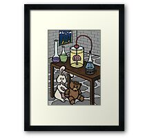 Teddy Bear and Bunny - The Rescue Came Too Late Framed Print