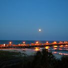 Full Moon At The Pier by ©Dawne M. Dunton