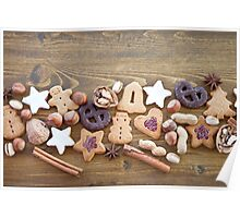 Cookies, Nuts & Spices for Christmas Poster