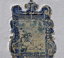 Antique Portugese Wall Tile by Bine