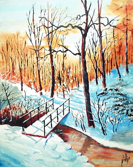 Snow Covered Trail by Jim Phillips