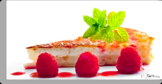 Lemon Tart with Raspberries by Stephen Knowles