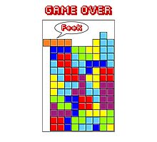 Tetris - GAME OVER Photographic Print