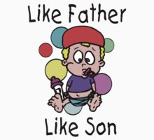 "Funny New Father Dad ""Like Father Like Son"" by FamilyT-Shirts"