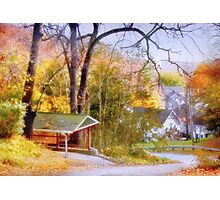 Fall Comes to Fifth Street Photographic Print