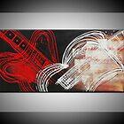 designartusa Handpainted abstract oil painting by designartusa