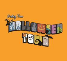 Halloween Town Postcard by rebeccaariel