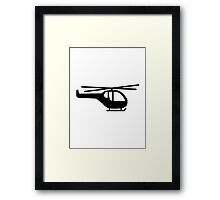 Helicopter pilot aviation Framed Print