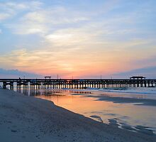 Morning At The Pier by Dawne Dunton