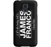 "James Franco - ""If I Die"" Series (White) Samsung Galaxy Case/Skin"