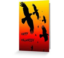 Happy Halloween Murder of Crows Greeting Card