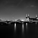 Battersea Power Station at Night by ninjaprints