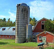 Country Barn In Milton by Deborah  Benoit