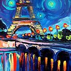 Painting of Eifel Tower Paris by steadyeddie