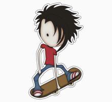Skateboarder Teenage Boy Cartoon Kids Clothes