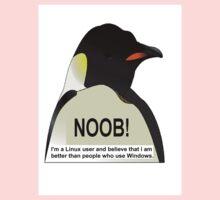 NOOB! I am a Linux snob Kids Clothes