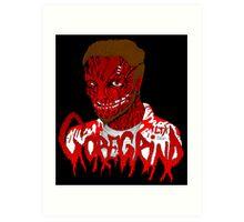 Goregrind Face Melt Art Print