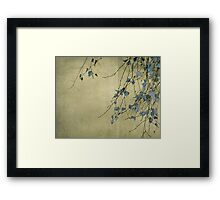 Nature's ink Framed Print