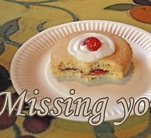 Missing You Empire Biscuit Card by simpsonvisuals