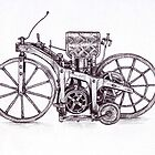 Early motorcycle by Claudia Gleave