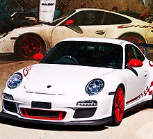White Porsche GT3RS by Stuart Row