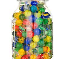 jar of marbles by Jim  Hughes