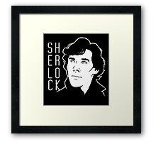 Sherlock Minimal Framed Print