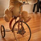Bear on a Bike by DavidsArt