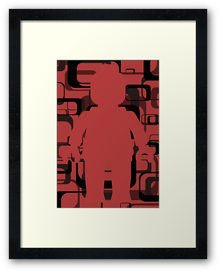 Retro Minifig Art by Customize My Minifig by ChilleeW