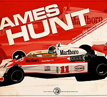 James Hunt - F1 1976 by EvanDeCiren