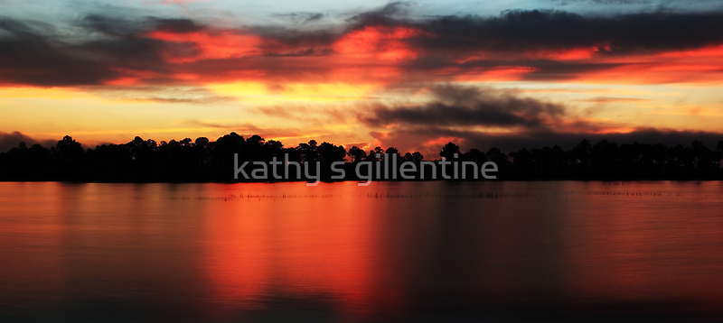 Sunrise at Webb lake by kathy s gillentine