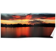 Sunrise at Webb lake Poster