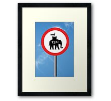 Mumakil Weight Restriction Framed Print