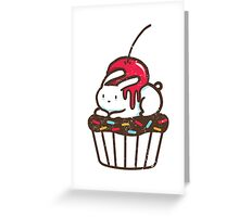 Chubby Bunny on a cupcake Greeting Card