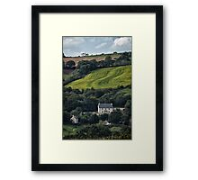 The House On The Side Of The Hill Framed Print